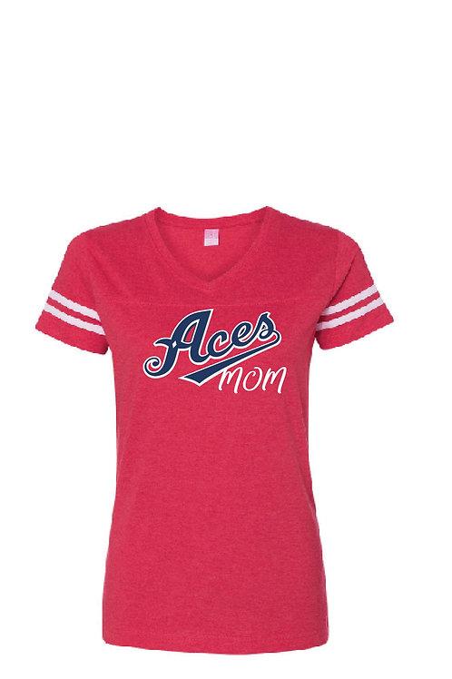 Z20 Aces Mom Ladies Ringer Tee