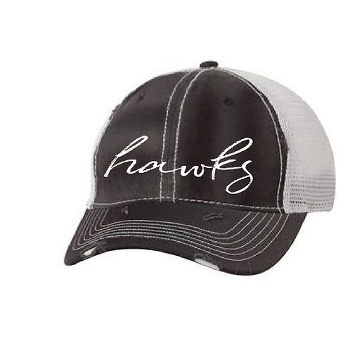 Hawks Soccer Distressed Hat