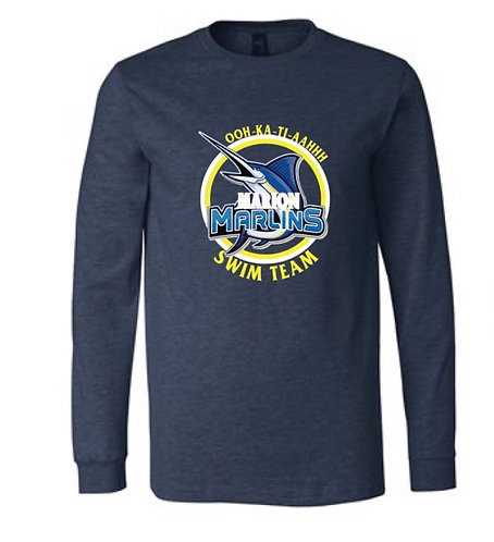 Marion Marlins Adult Long Sleeve Tee
