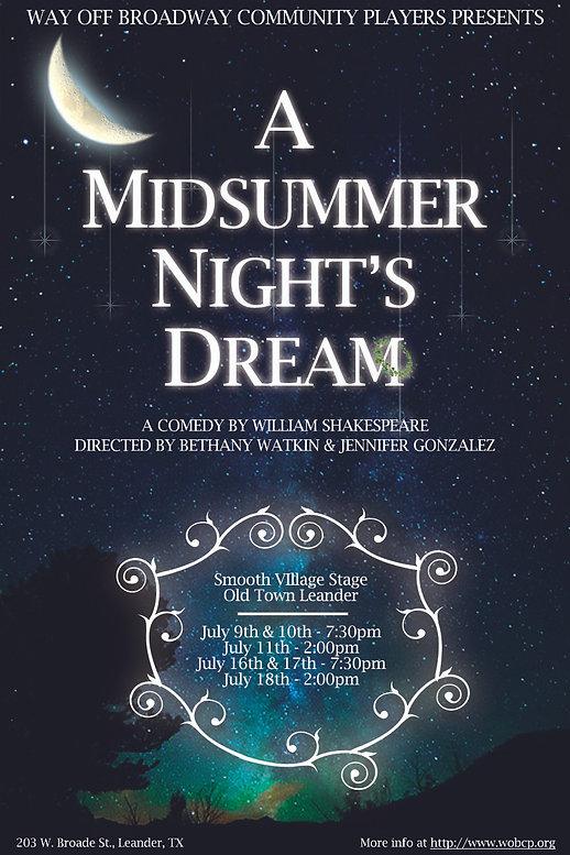A Midsummer Night's Dream - Poster Proof