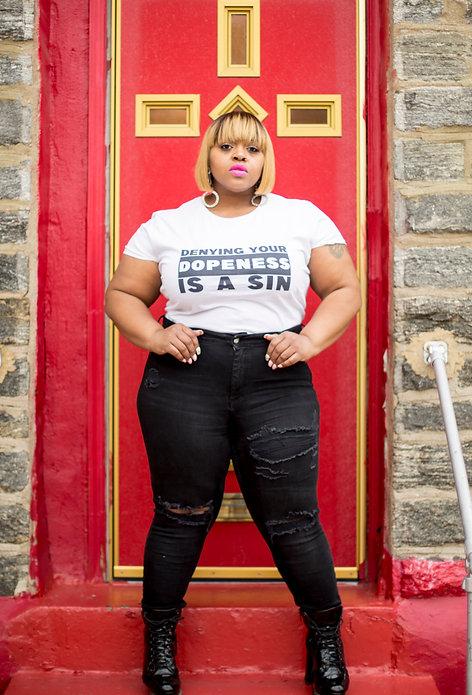 Denying Your Dopeness - Women's short sleeve t-shirt