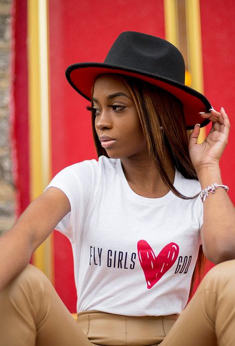 Fly Girl's Love God - Women's short sleeve t-shirt