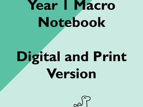 Updated: Year 1 Macro Notebooks