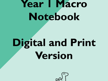 Updated: Year 1 Macro Notebooks