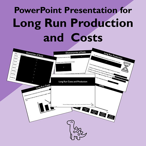 Long Run Production and Costs Slides