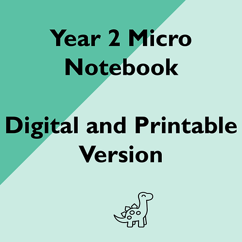 Year 2 Micro Notebook (Digital and Printable Versions)