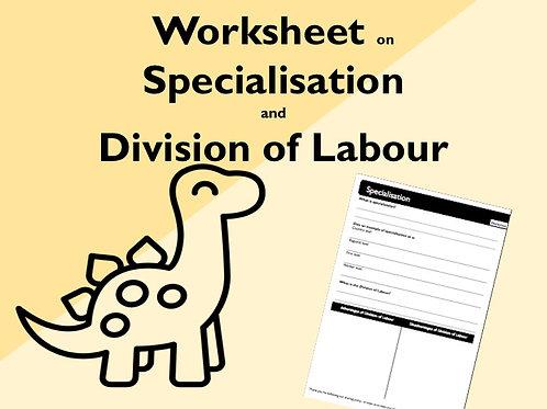 Specialisation Worksheet