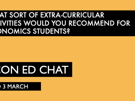 Extra-curricular activities for Economics students