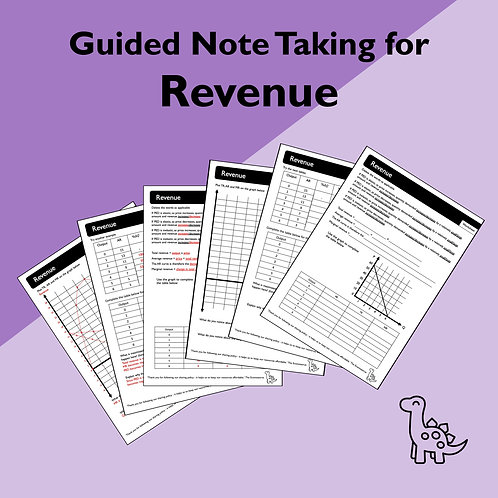 Revenue Guided Note Taking
