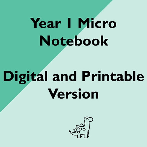 Year 1 Micro Notebook (Digital and Printable versions)