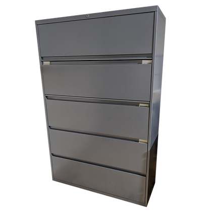 """42"""" Dark Cool Gray 5-High Lateral File"""