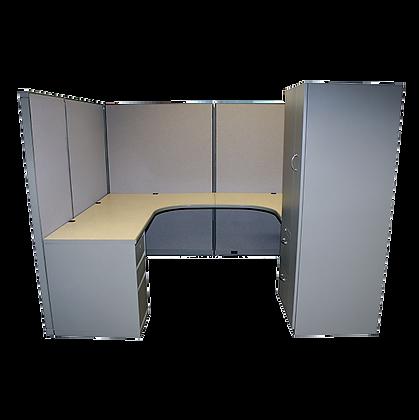 Steelcase 9000 U-Workstation with Wardrobe