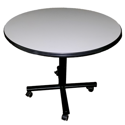 "Vecta 36"" Round Table with Wheels"
