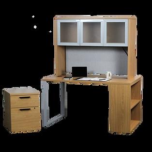 HON 10500 Series Rectangular Desk with Bookshelf