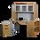 Thumbnail: HON 10500 Series Rectangular Desk with Bookshelf