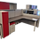 Thumbnail: AIS Divi Red Back-to-Back L-Shaped Workstation