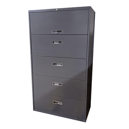 "36"" Dark Warm Gray 5-High Lateral File"