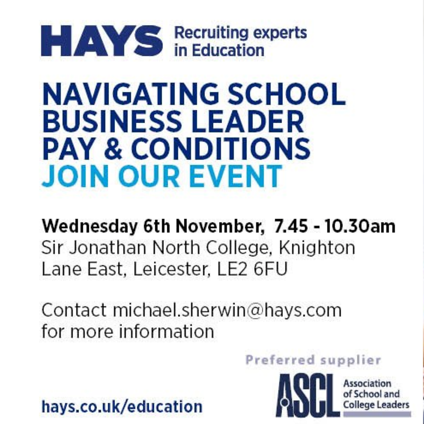 Hays - Navigating School Business Leader Pay & Condition