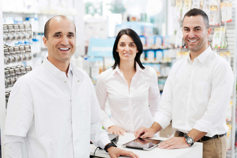 Three pharmacists