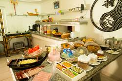 Café da manhã pousada Juq