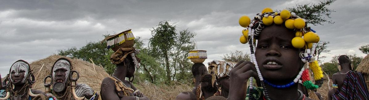 Ethiopian Mursi people
