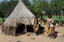 A Tsemai village house