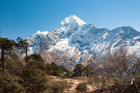 A view on a trek in Nepal