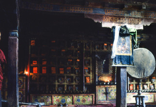 The library at Tikse Gompa