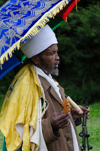 Priest at Meskel celebration