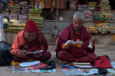 Prayers on the street Kathmandu