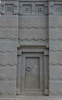 False door at the base of the stella