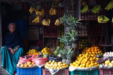 Fruit seller Kathmandu