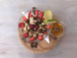 Granola honey fruit Salad