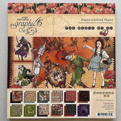 Bloc papier G45 The Magic of Oz  8x8