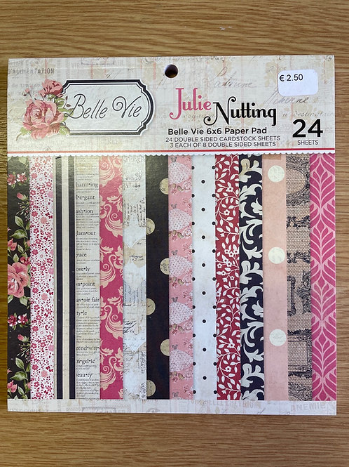 Bloc papier Julie Nutting 24 feuilles.