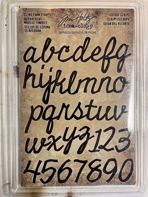 Tampons en mousse alphabet Tim holtz