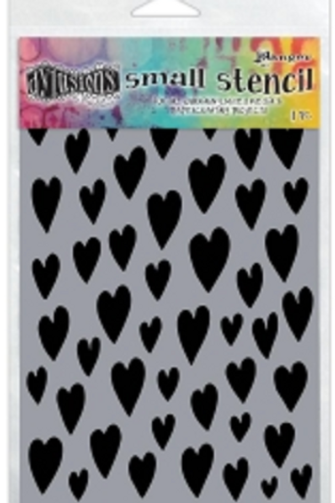Pochoir LOVE HEARTS, small, petit DYS61694