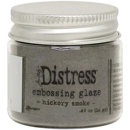 Distress embossing Glaze Hickory Smoke