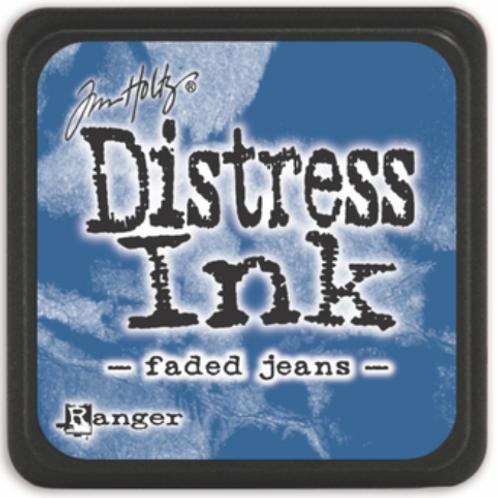 Encre Distress faded Jeans petit