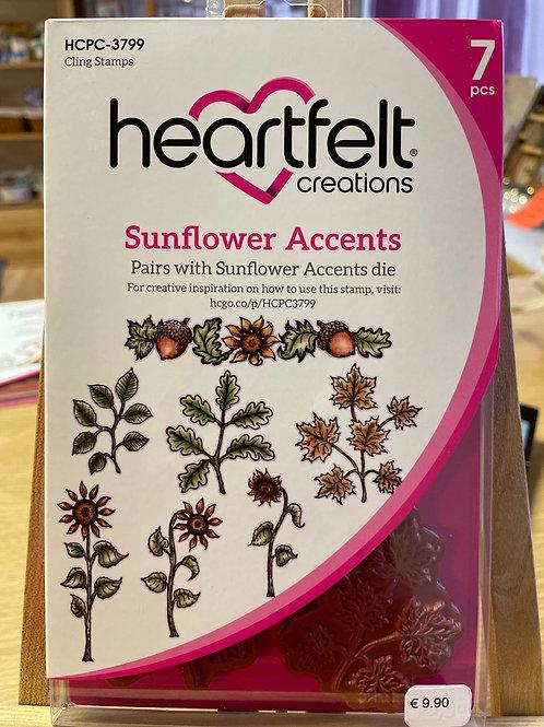 Tampon Heartfelt «sunflower accents»