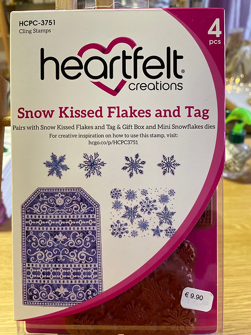 Tampons heartfelt « snow kissed flakes and tag »