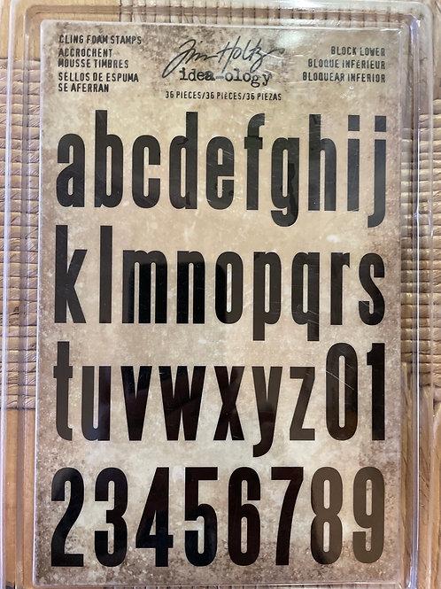 Tampons mousse Alphabet 36 pièces Tim Holtz