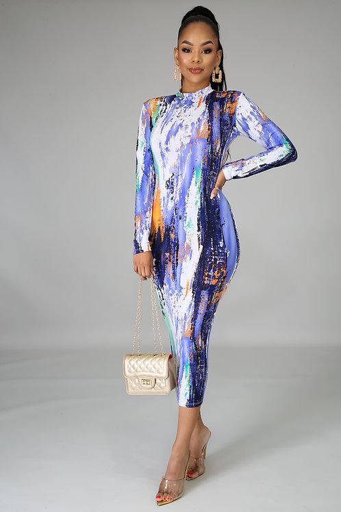 Striking Midi Dress
