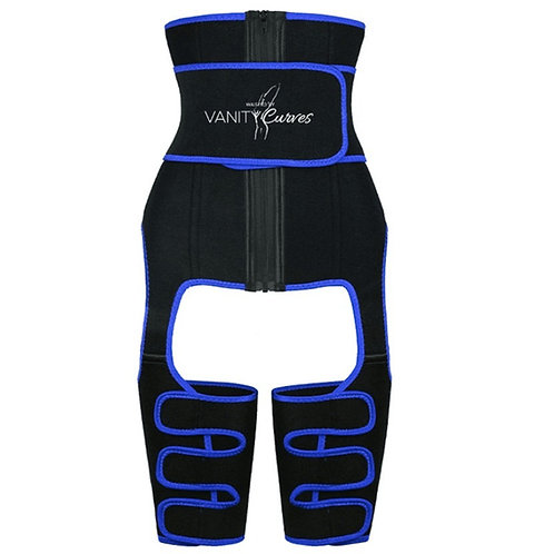 Waisted Thermo Thigh & Waist Shaper All-In-One
