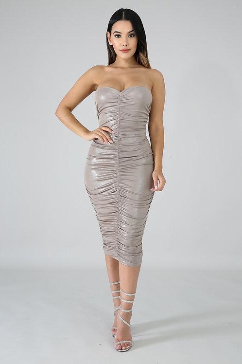 Shine Tube Scrunch Dress