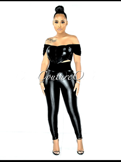 Fixed Faux Leather  Set