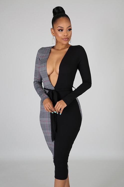 Go Get Her Deep V Dress
