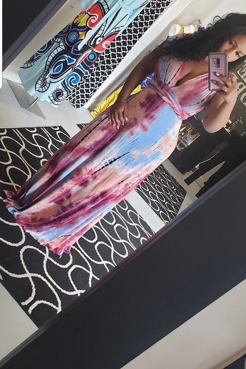 Tye Dye Maxi Multiwrap Dress