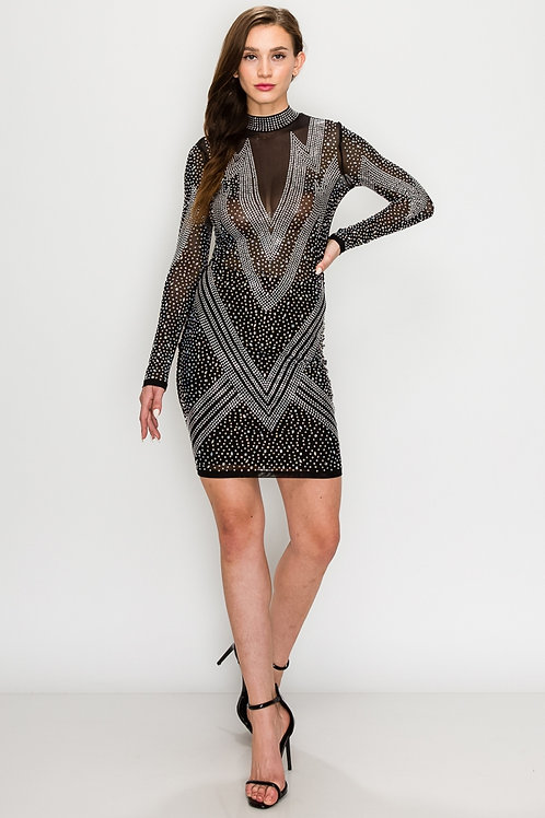 Night is Yours Mesh & Sequence Dress