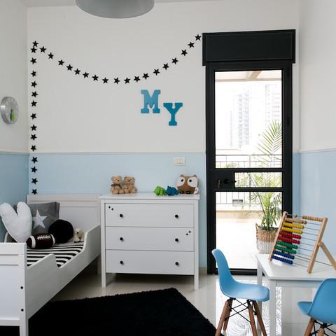 מירב דקל | עיצוב חדר ילדים לבן